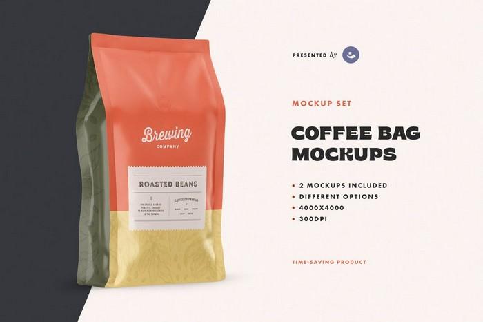 Set of Coffee Bag Mockups