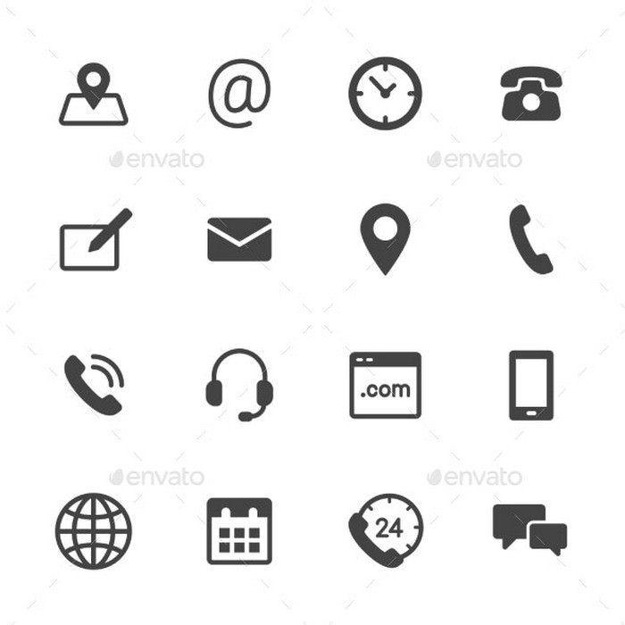 Simple Contact Icons