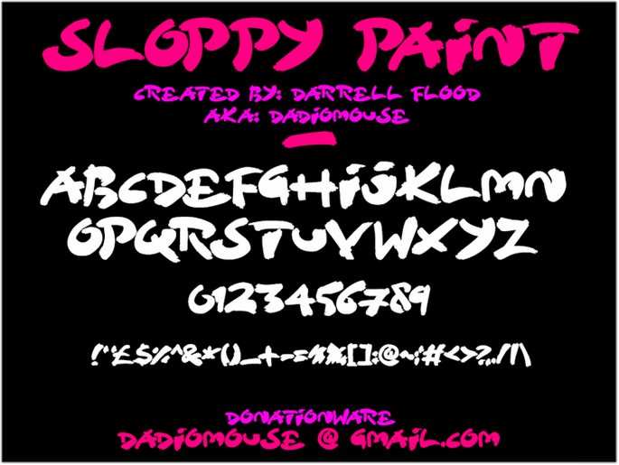 Sloppy Paint font