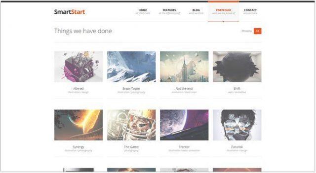 SmartStart - Responsive Portfolio HTML5 Template