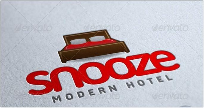 Snooze Hotel Logo Design