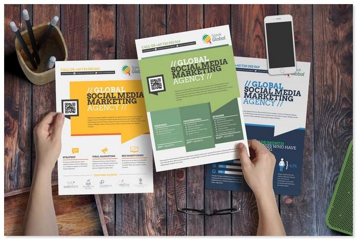 Social Media Advertising Flyer