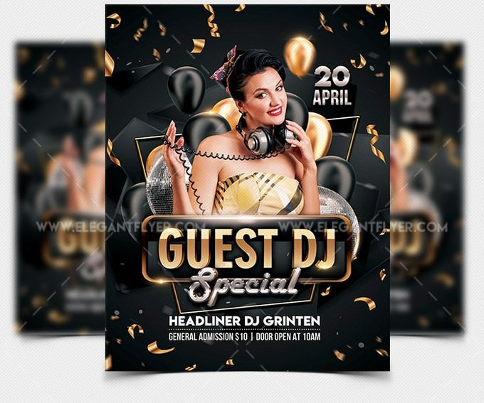 Special Guest DJ – Free Flyer Template