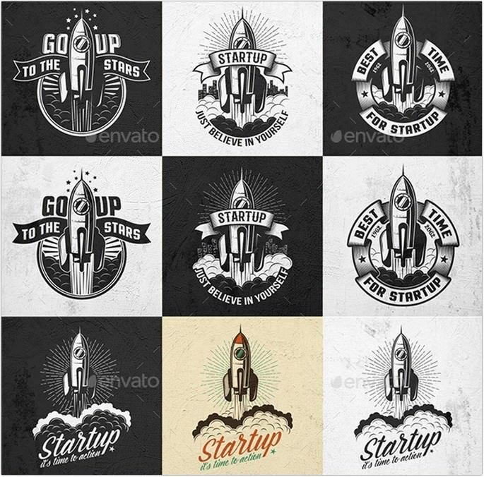 Rocket Retro Logo
