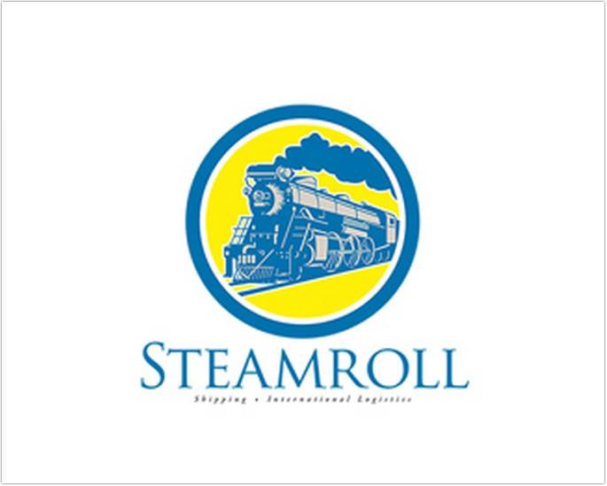 Steam Roll Shipping Logo
