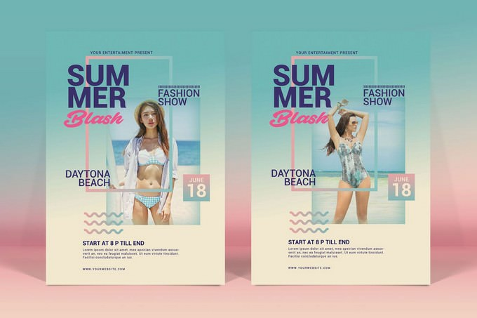 Summer Fashion Flyer Template