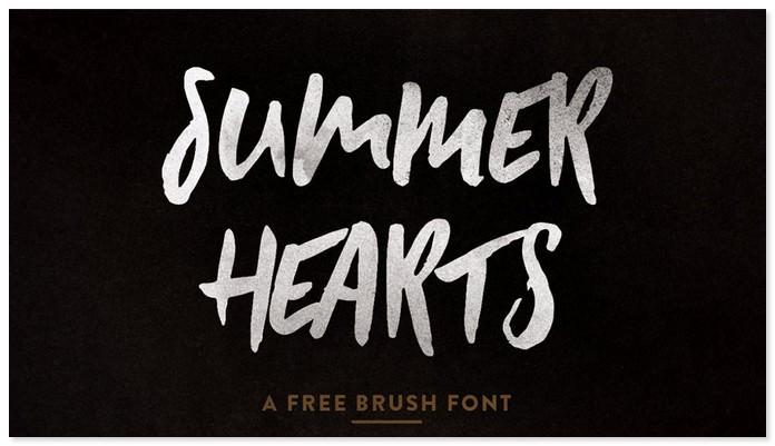Summer Hearts - Free Font