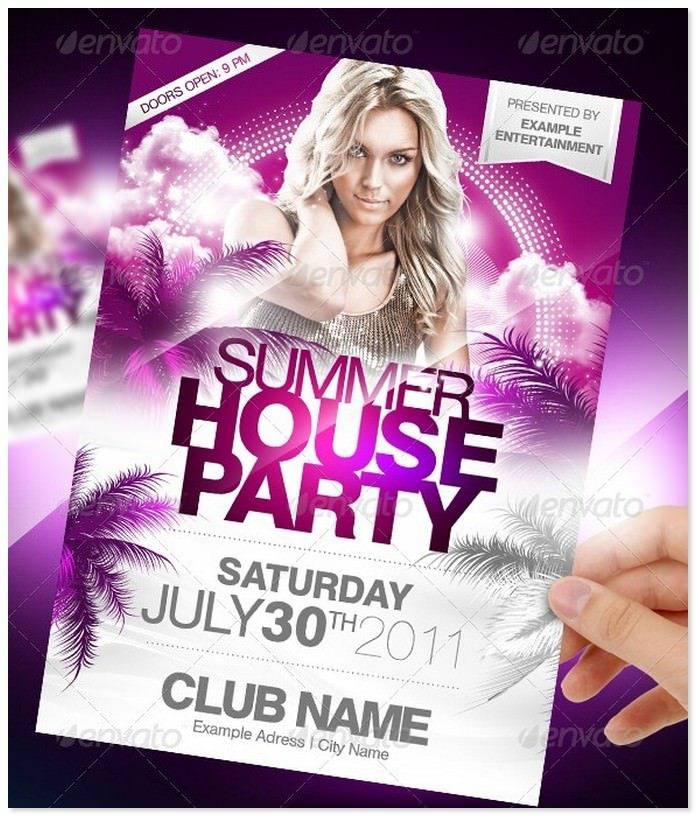 Summer House Party Event Flyer