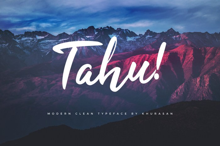 Tahu – Free Script Font