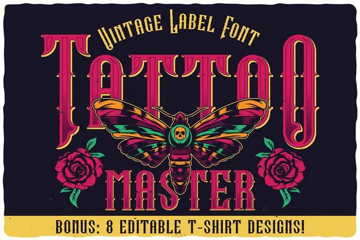 Tattoo Master Label Font