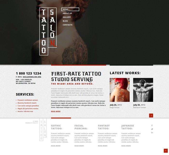 Tattoo Salon Responsive WP Theme