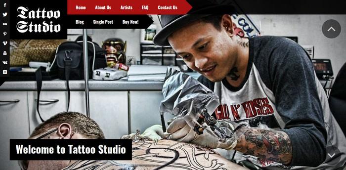 Tattoo Studio – Responsive WordPress Theme