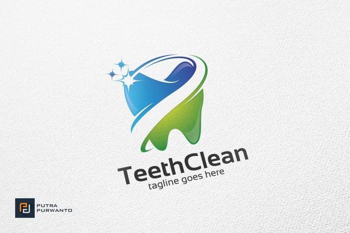 Teeth Clean Dental - Logo Template