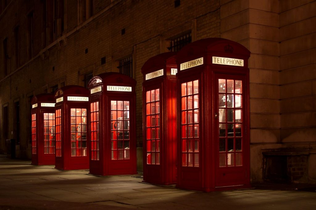 Telephone Booth hipster background
