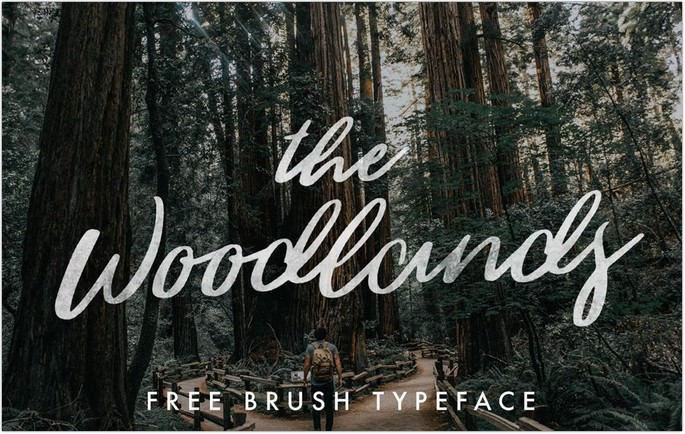 The Woodlands Font
