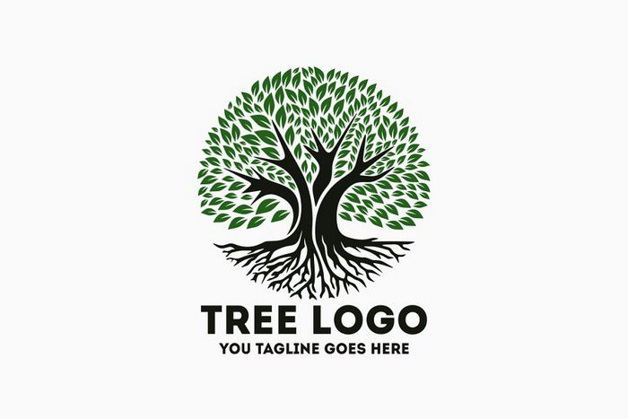Tree Logo Template AI