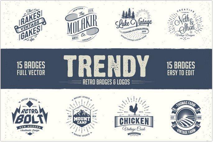 Trendy Retro Logo