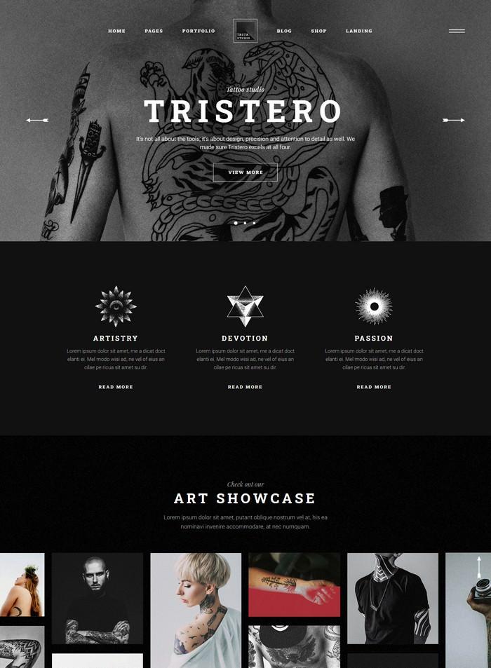Tristero - Tattoo WordPress Theme