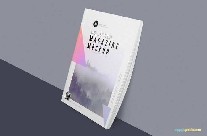 Two Free US Letter Magazine Mockup
