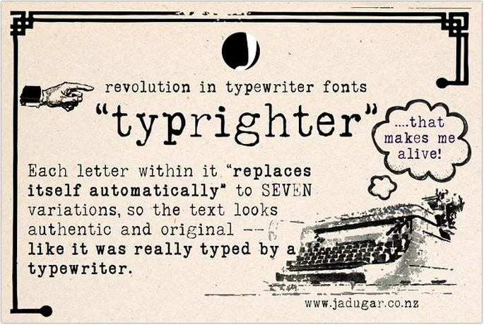 Typrighter Typewriter Font