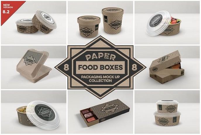 VOL.8 Food Box Packaging Mockups