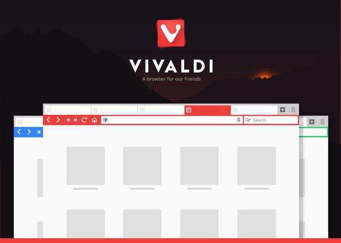 Vivaldi Browser PSD Mockup