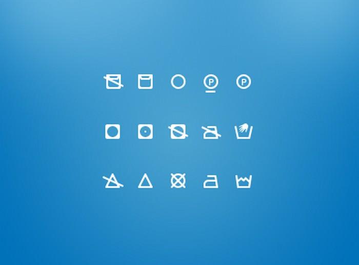 Washing Icons Free icon set