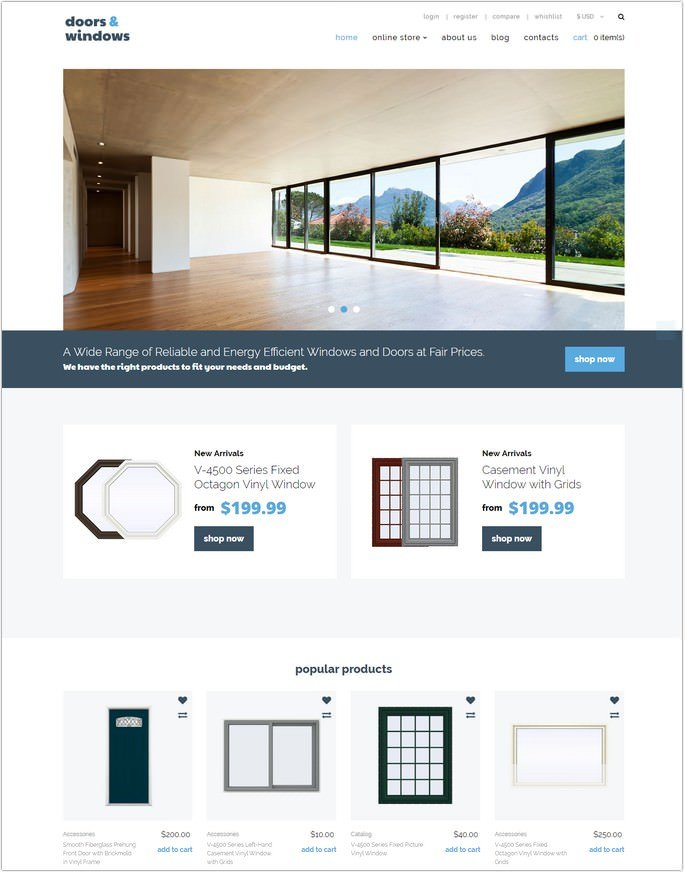 Windows & Doors Responsive VirtueMart Template