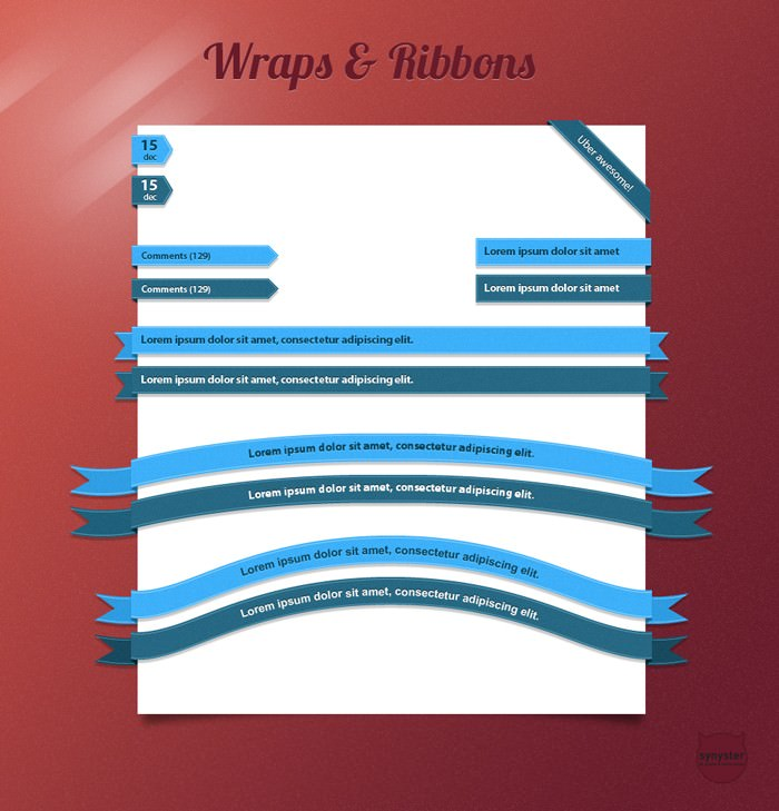 Wraps and Ribbons pack