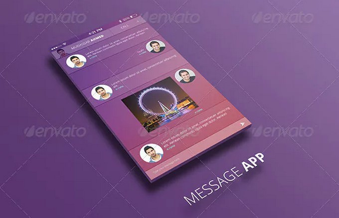 iOS Message App UI