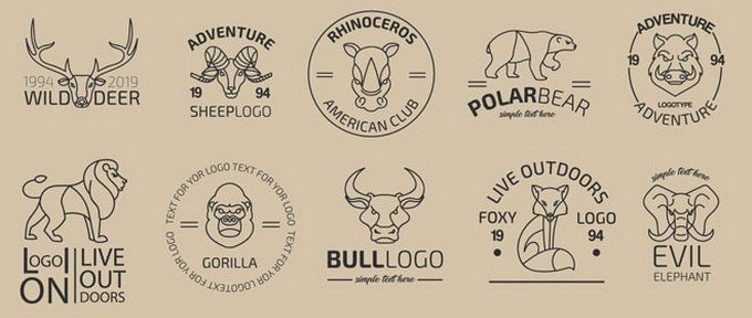 10 Free Animals Logo Set