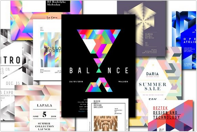 Geometric Flyers Templates