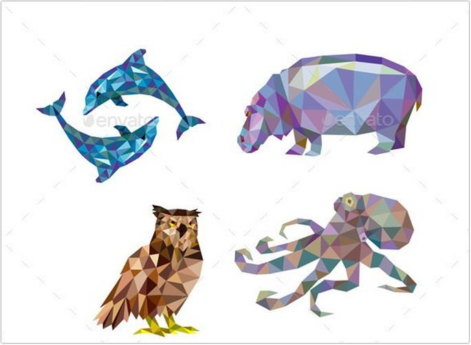 Low Poly Animal Series for logo