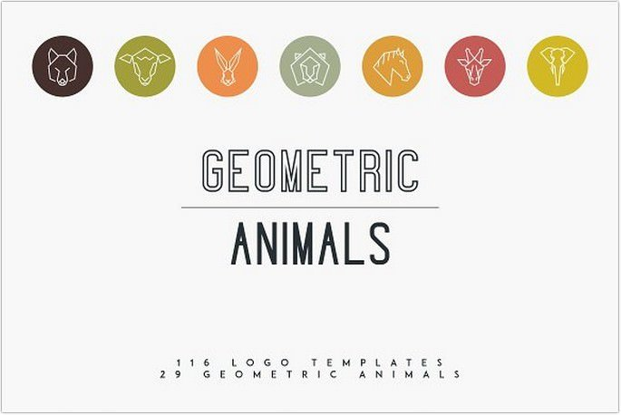 Geometric Animal Logos free