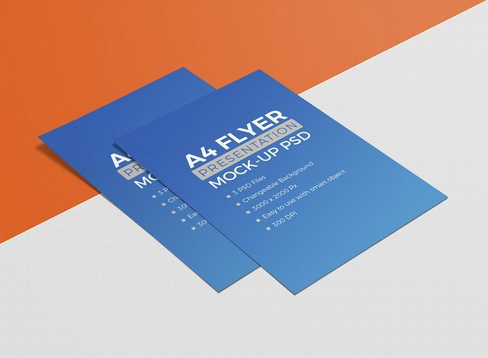High Quality A4 Size Free Flyer Mockup