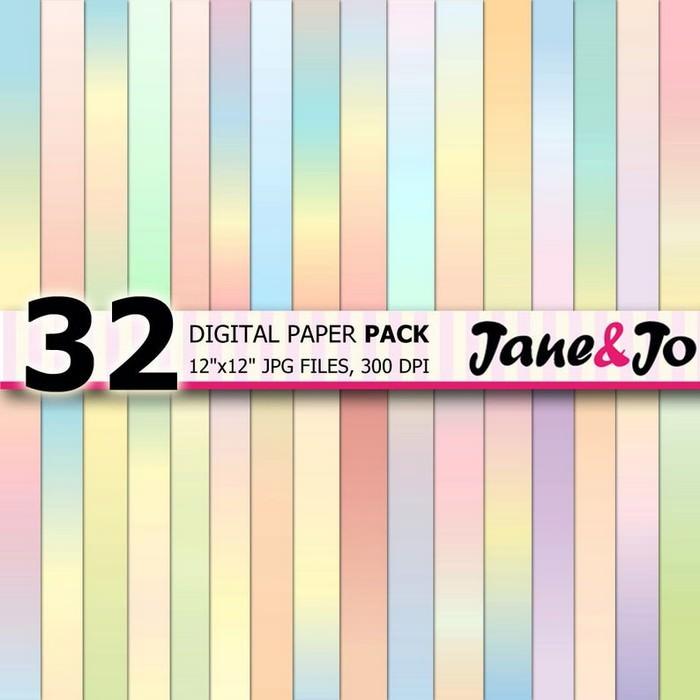 34 Pastel Digital Papers
