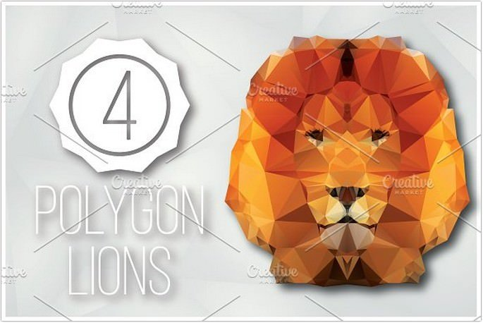 Geometric Polygon Lions
