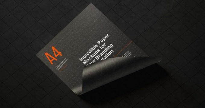 Paper Flyer Mockup