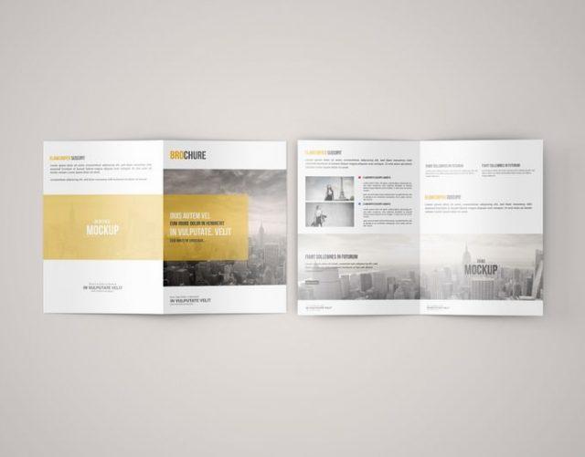A5 Bi Fold Brochure Mockup - Free