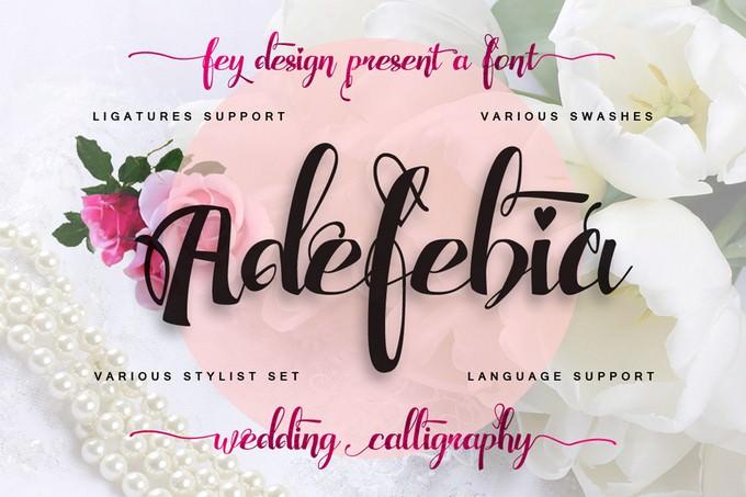 Adefebia Wedding Script Font