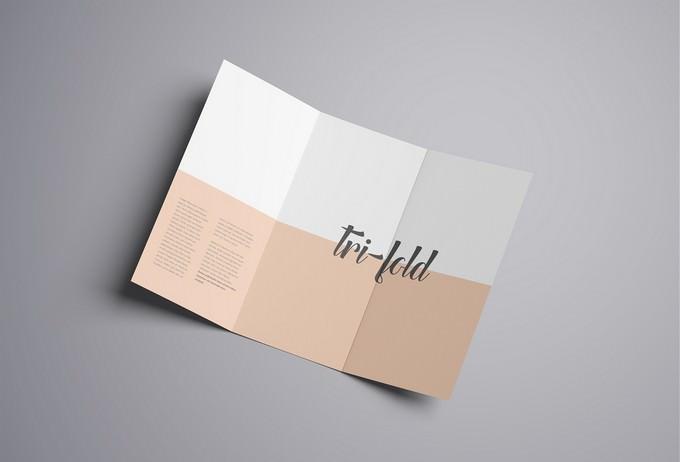 Advanced Tri-Fold Brochure Mockup