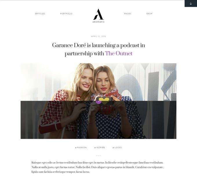 Aesthetic Blogging WordPress Theme