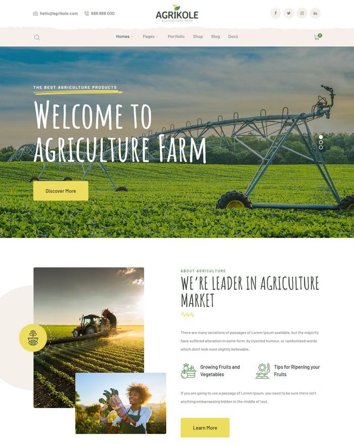 Agrikole Responsive WordPress Theme