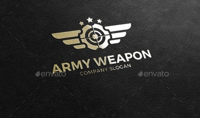 Army Gun - Military Weapon Logo