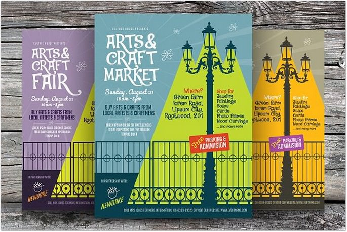 Arts & Craft Fair Shapes Flyers