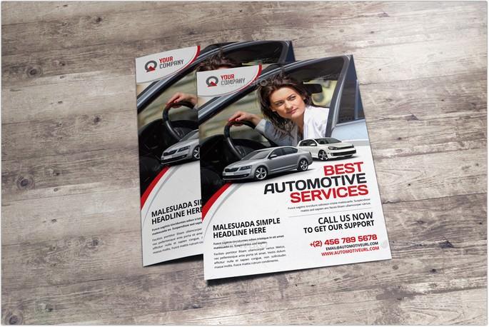 Automotive Car Rental Flyer