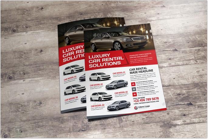 Car Sale Rental Flyer