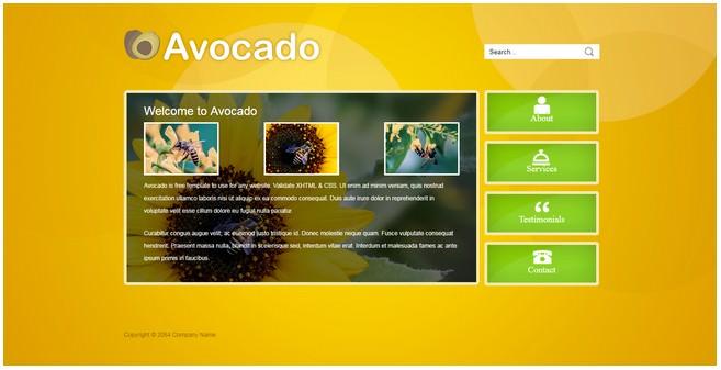 Avocado Dreamweaver TemplateAvocado Dreamweaver Template