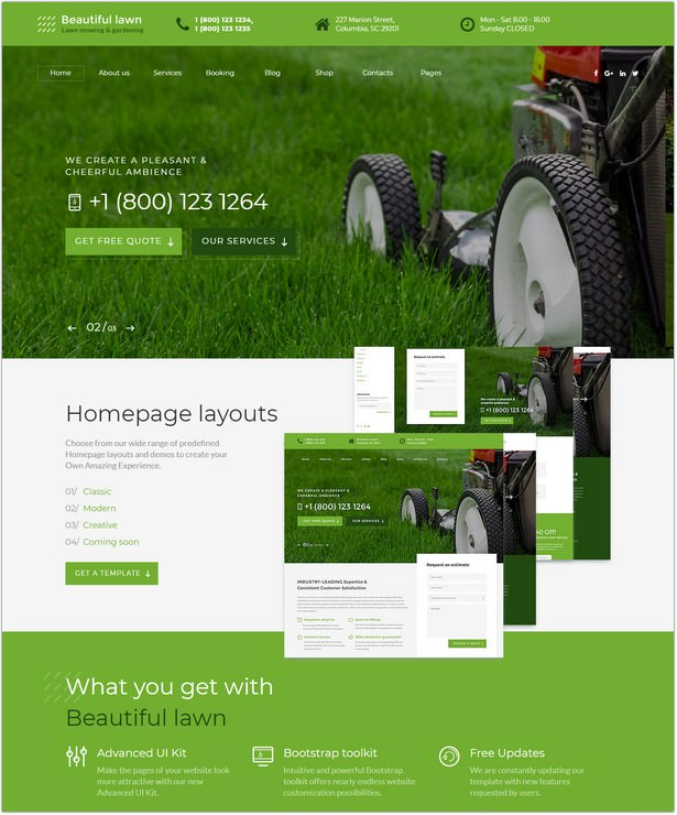 Lawn Moving And Gardening Website Template
