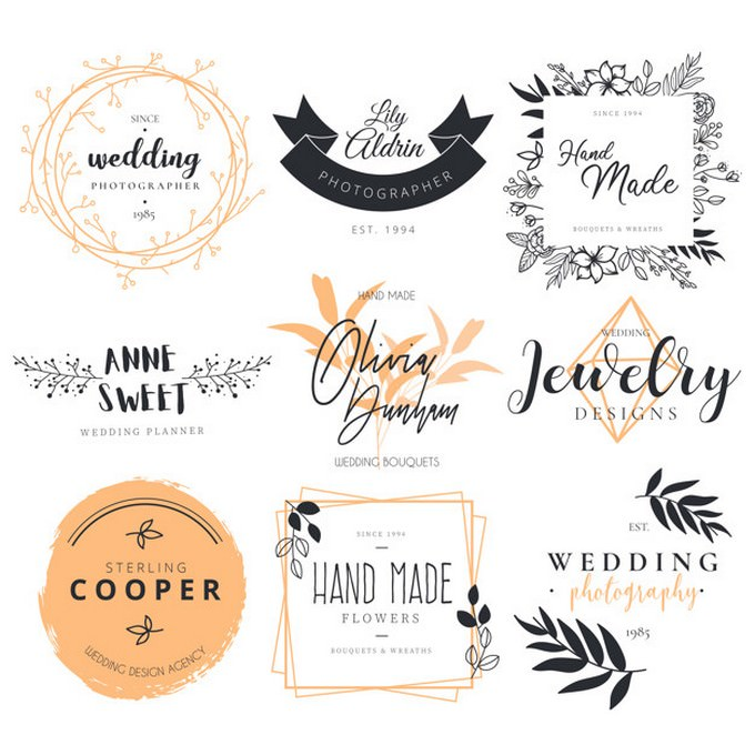 Beautiful Logotype Collection Photography Decoration
